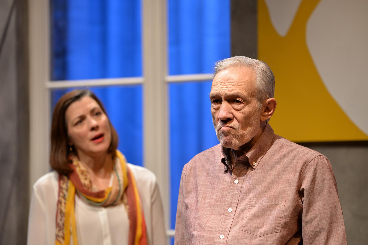 "Linda Gillum and David Darlow in ""The Father"" (Photo by Michael Courier)"