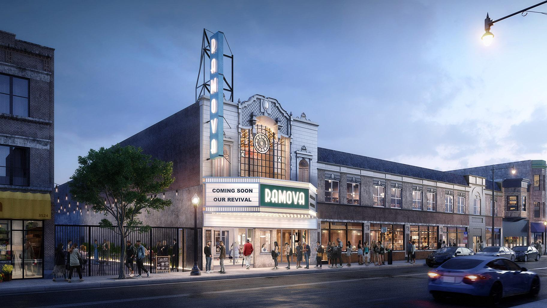 A render of the Remova Theater renovation project in Bridgeport.  (Credit O'Riley Office LLC)