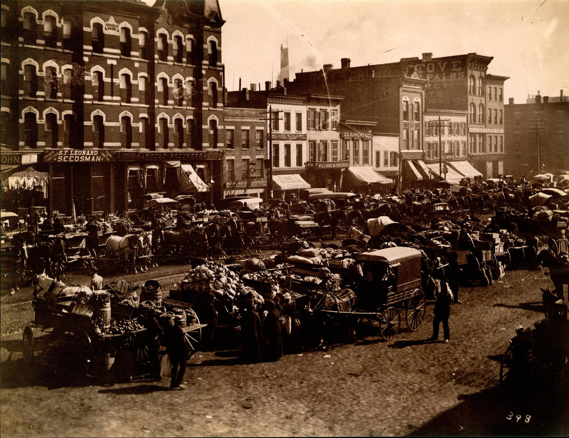 Randolph Market (Courtesy of the Chicago History Museum)