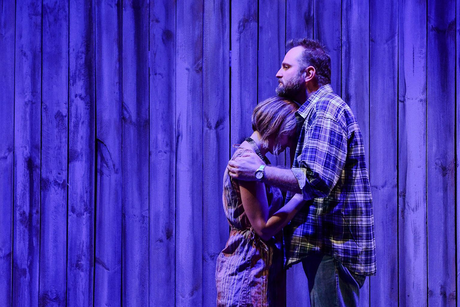 "Cortney McKenna and Joseph Wiens in ""The Realistic Joneses."" (Photo by Evan Hanover)"