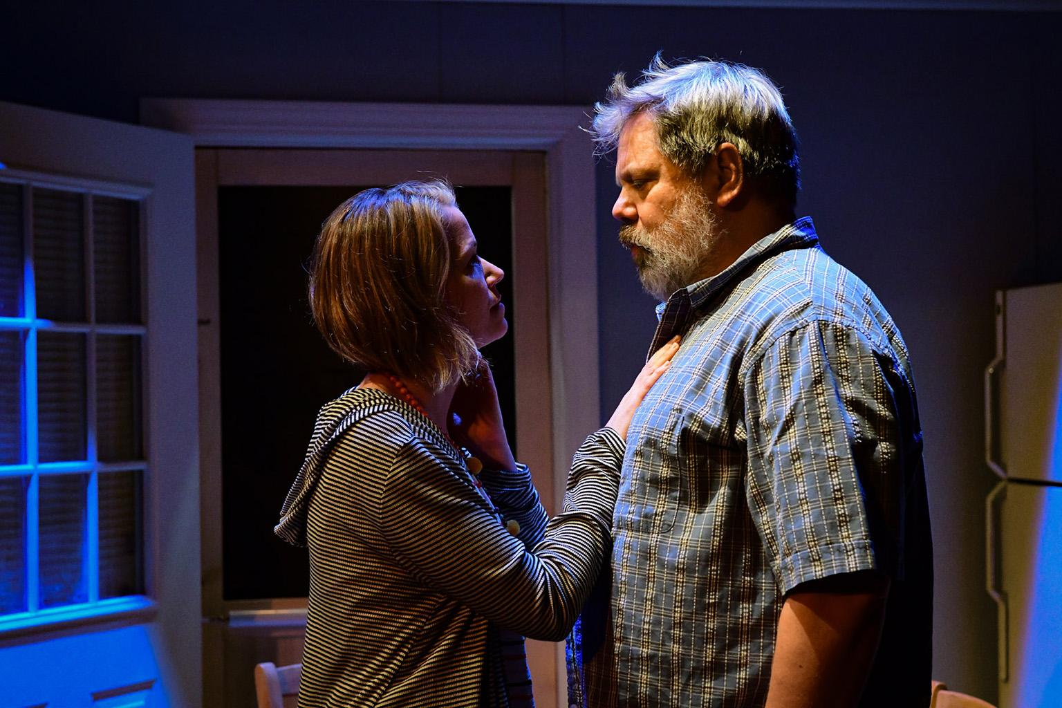 "Cortney McKenna and H.B. Ward in ""The Realistic Joneses."" (Photo by Evan Hanover)"