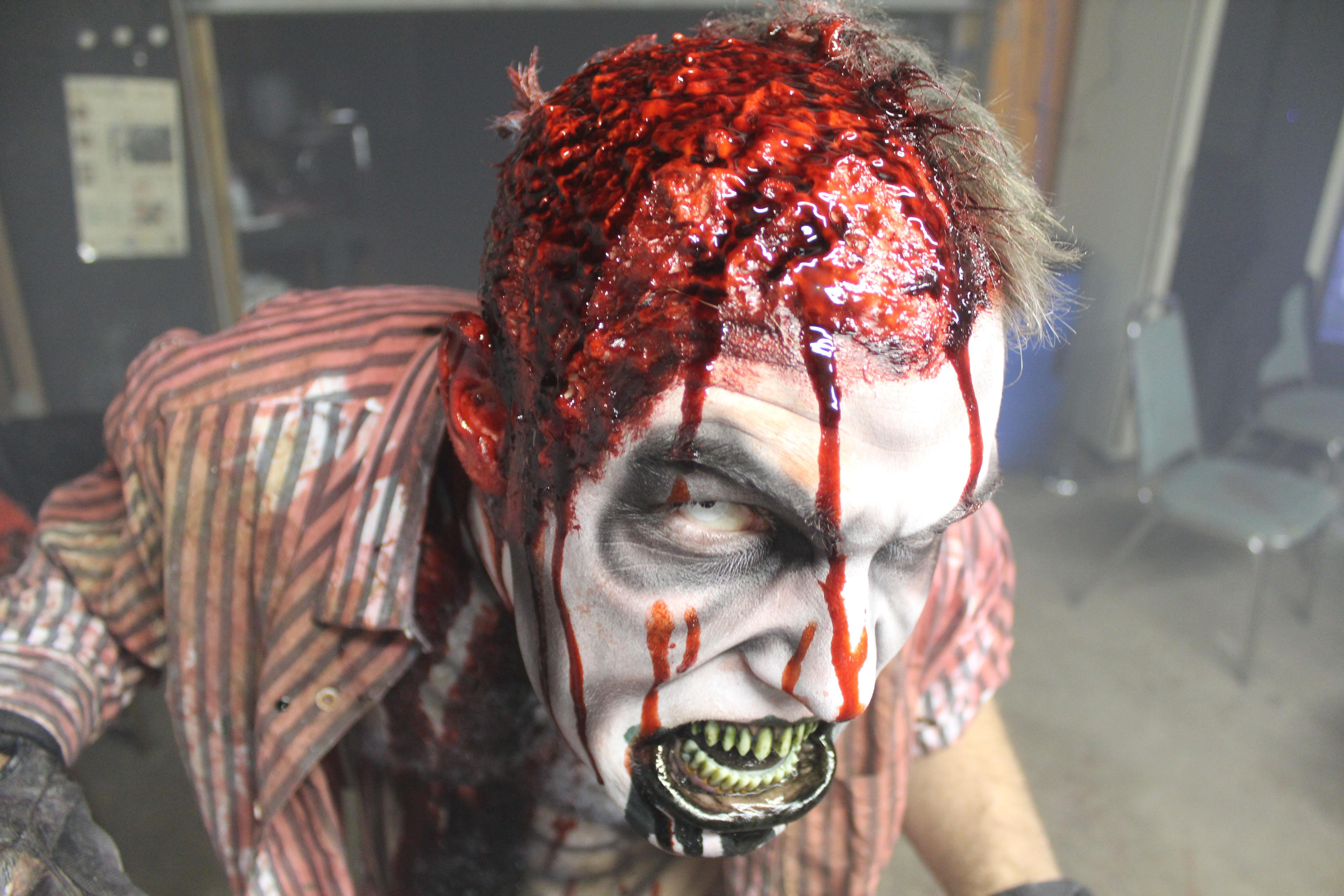 "Scare tactics: Realm of Terror features makeup effects by Stevie Calabrese of ""Face Off"" Season 9."