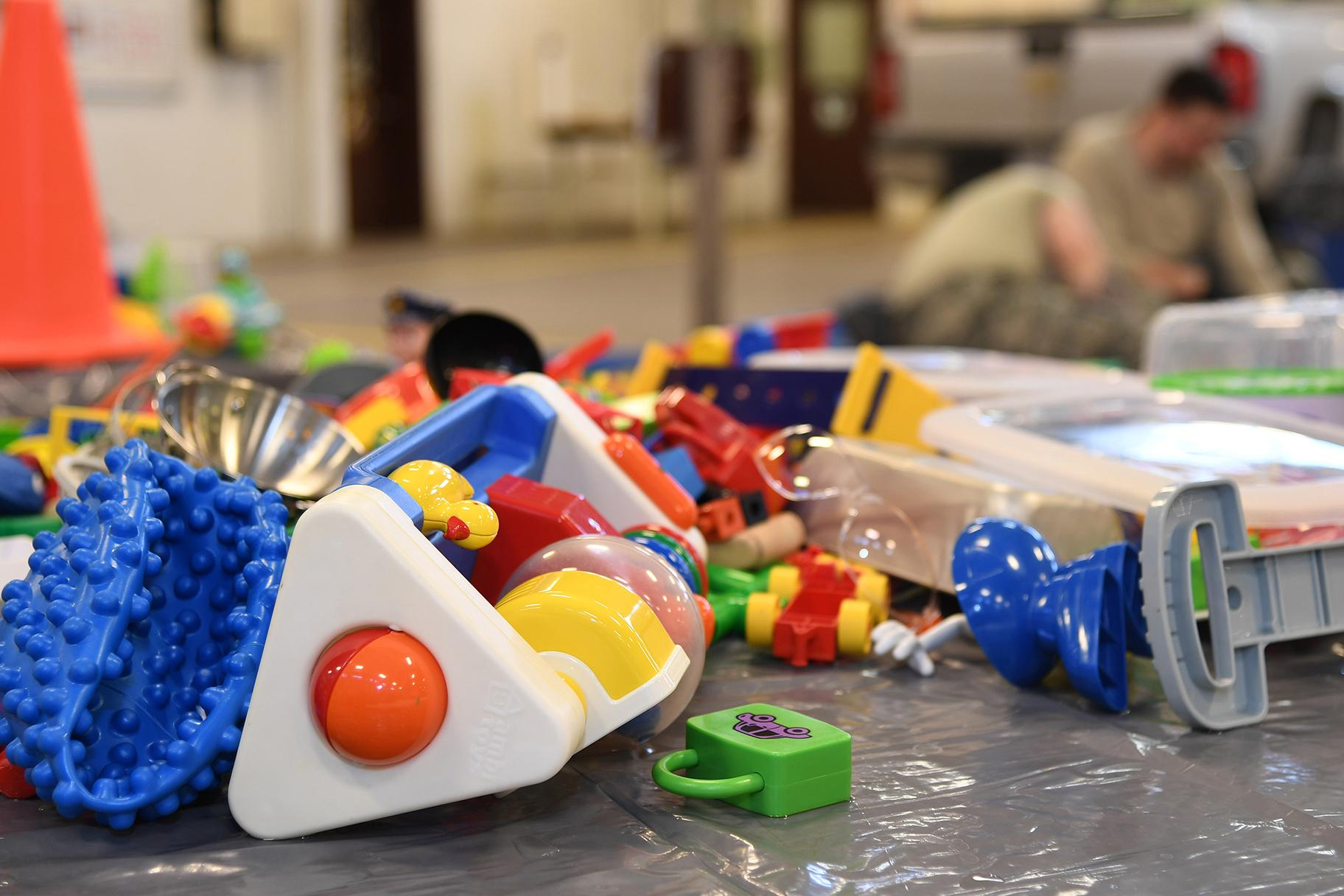 Polyvinyl chloride, which is found in items such as children's toys, is typically not able to be recycled. (U.S. Air Force photo by Senior Airman Elora J. Martinez)