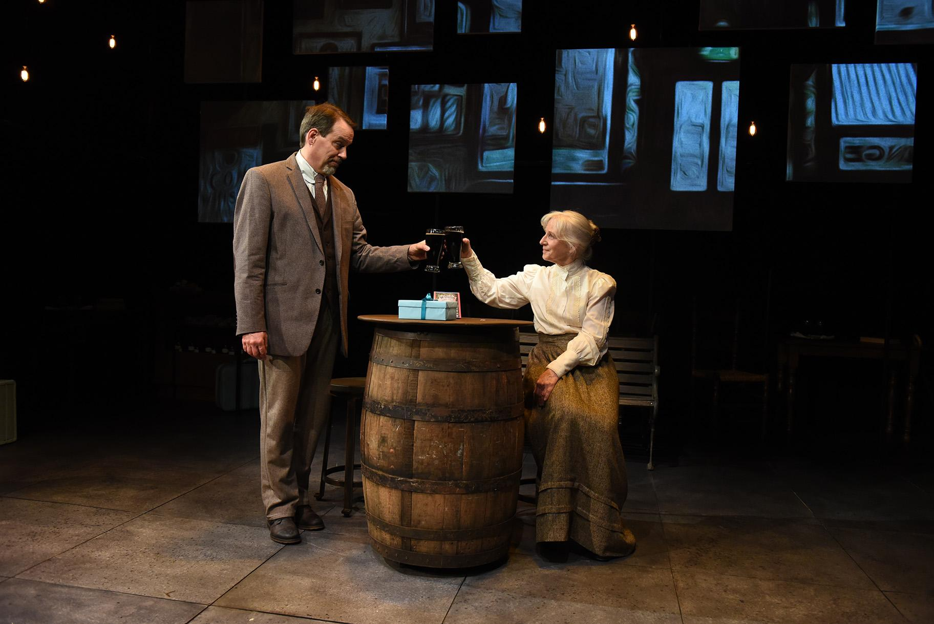 "Shawn Douglass and Annabel Armour in ""Bloomsday."" (Photo by Michael Courier)"