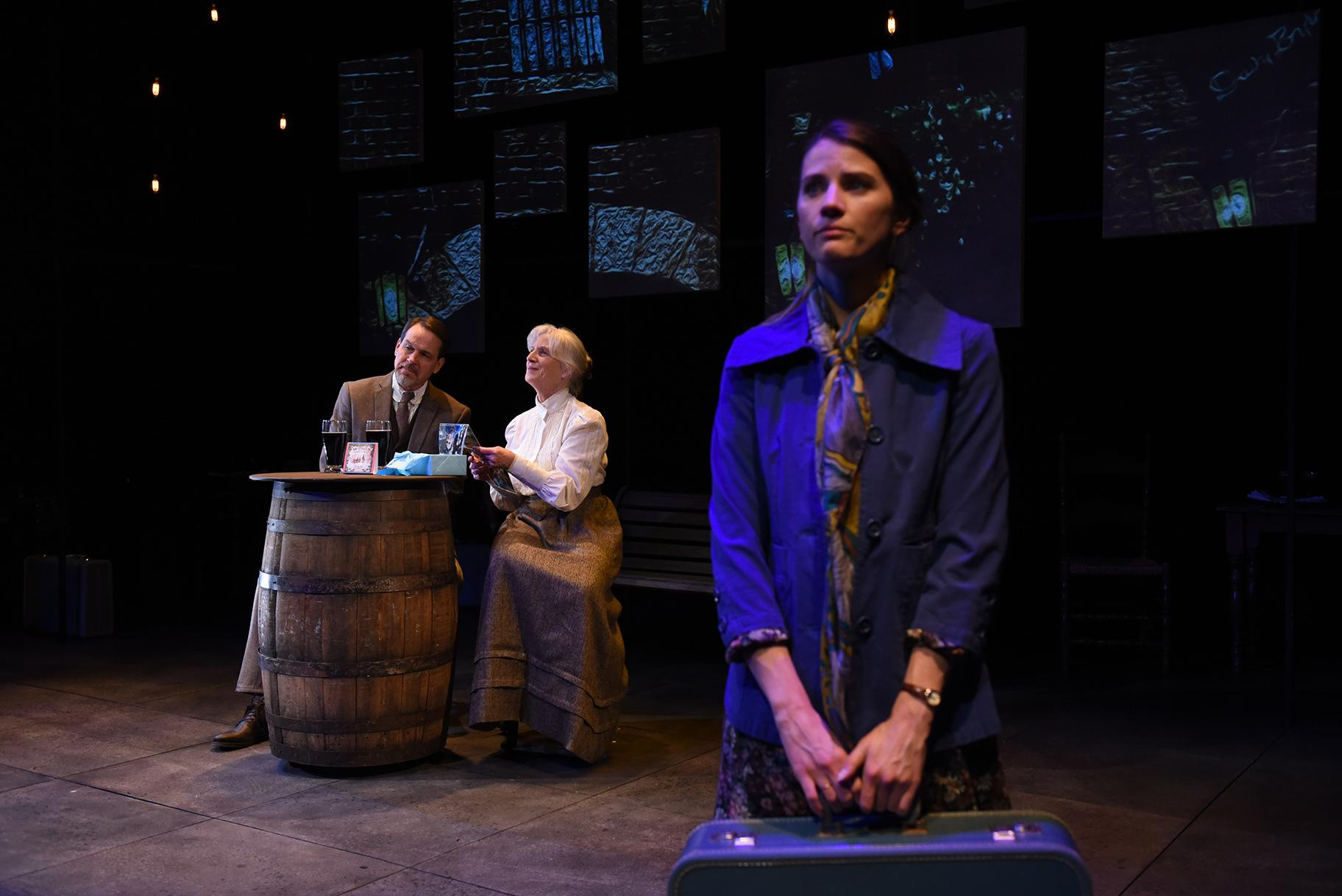 "From left: Shawn Douglass, Annabel Armour and Bryce Gangel in ""Bloomsday."" (Photo by Michael Courier)"