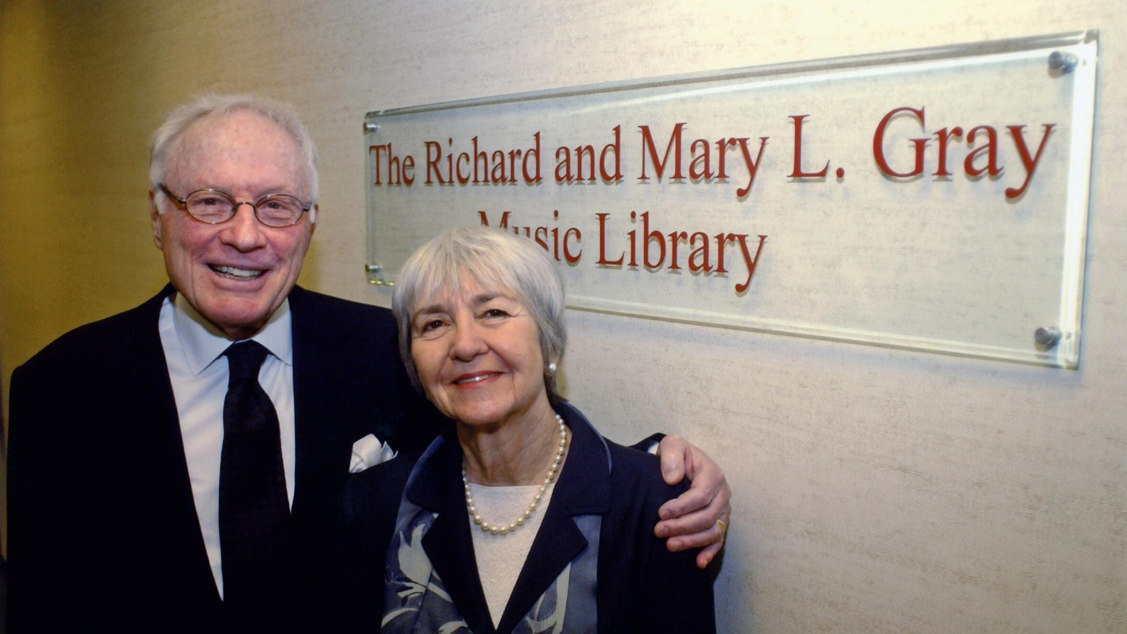 WFMT's music library is named for Richard and Mary Gray.