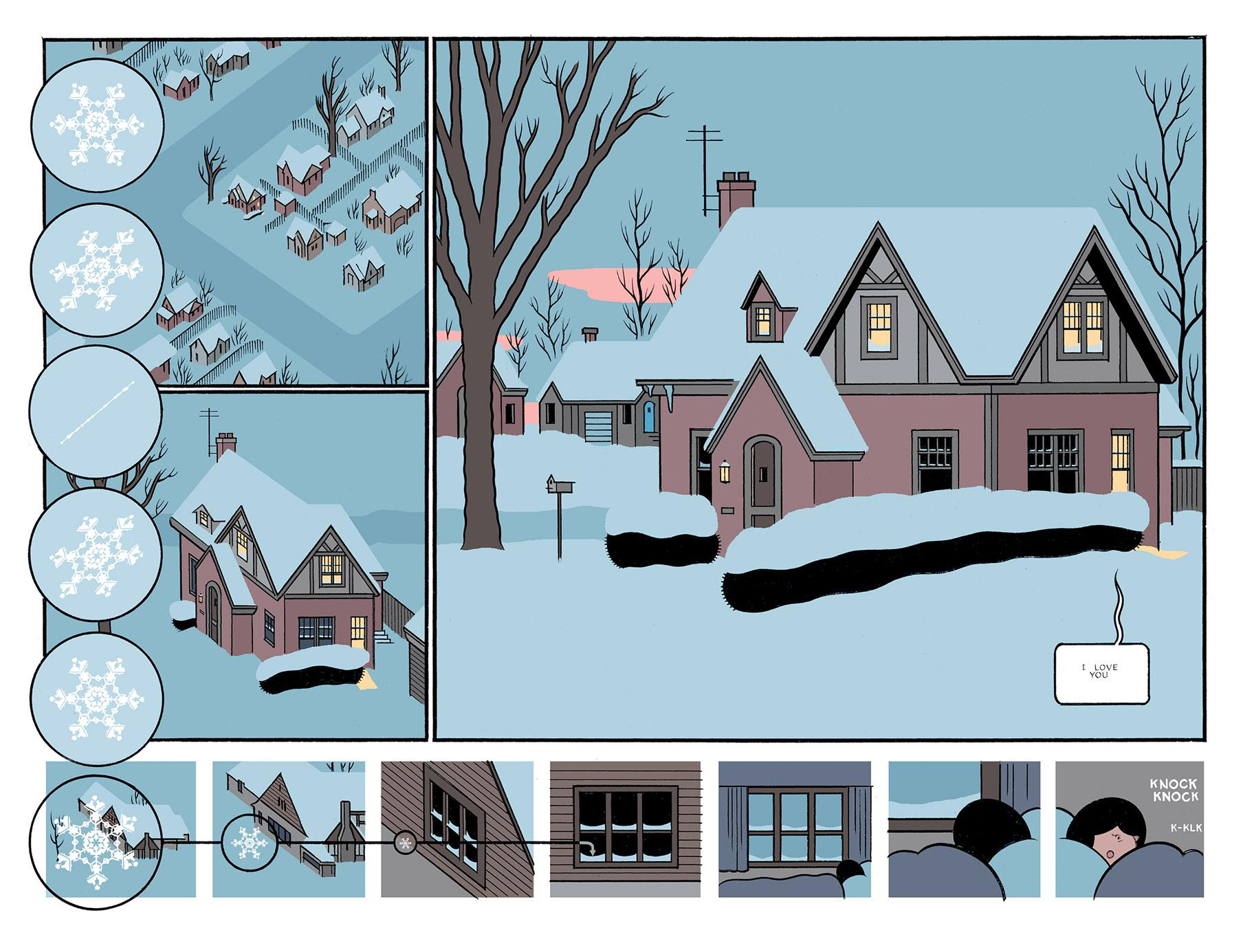 "An illustration from ""Rusty Brown."" (Courtesy of Chris Ware and Pantheon Books)"