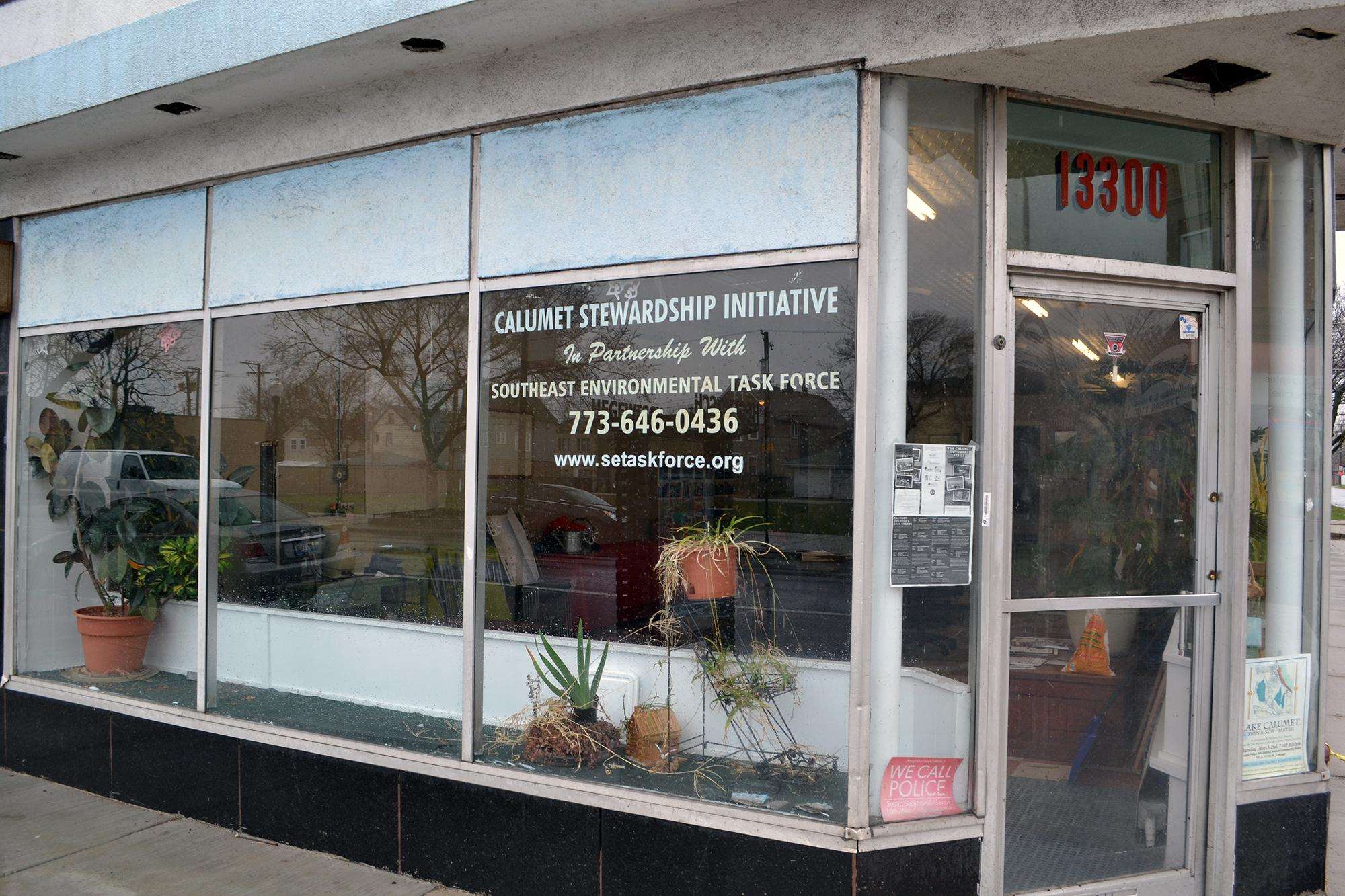 Southeast Environmental Task Force's office in Chicago's Hegewisch community area. (Alex Ruppenthal / Chicago Tonight)