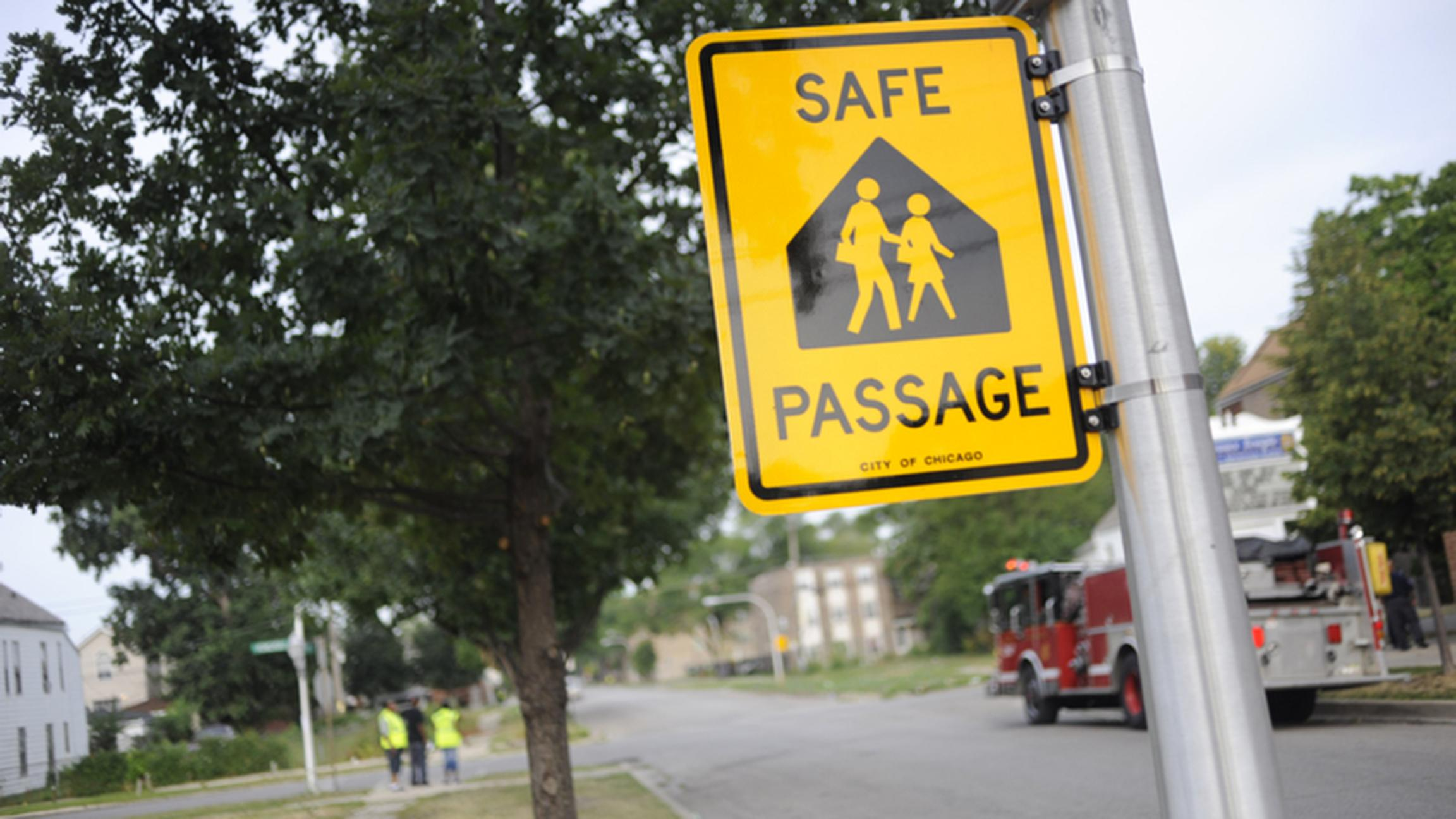 Chicago Public Schools says incidents of crime has fallen by a third along its Safe Passage routes since 2012. (WBEZ / Flickr)