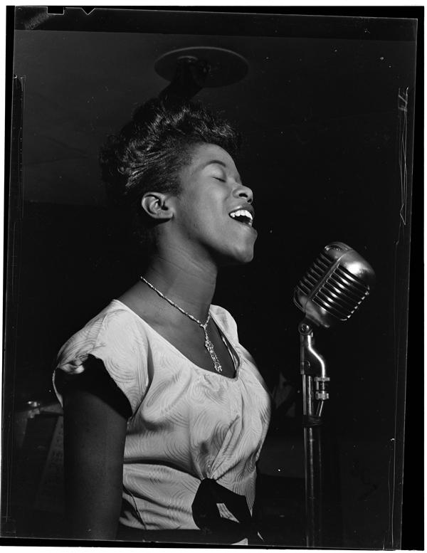 Sarah Vaughan, circa August 1946 (William P. Gottlieb via Wikimedia Commons)