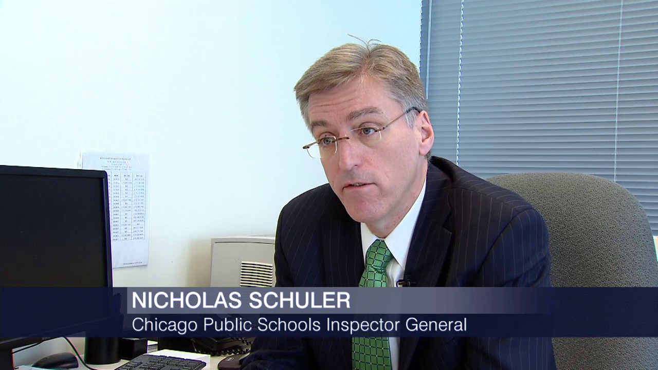 "CPS Inspector General Nicholas Schuler claims the district's internal auditors have interfered with his office's work by conducting ""parallel investigations"" into employee misconduct. (Chicago Tonight)"