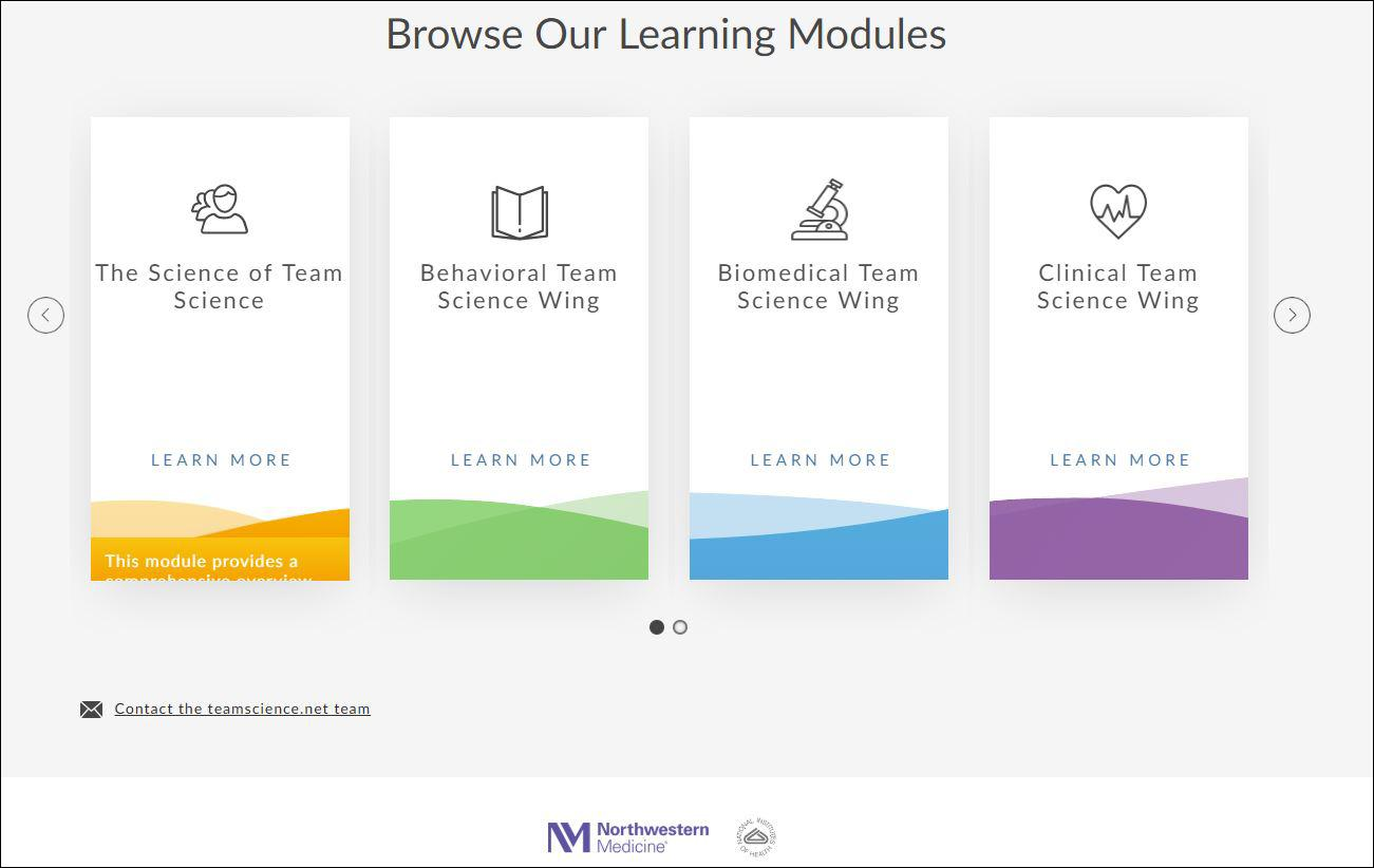 An online training tool developed at Northwestern University helps scientists prepare for collaborative projects. (Courtesy Northwestern University)
