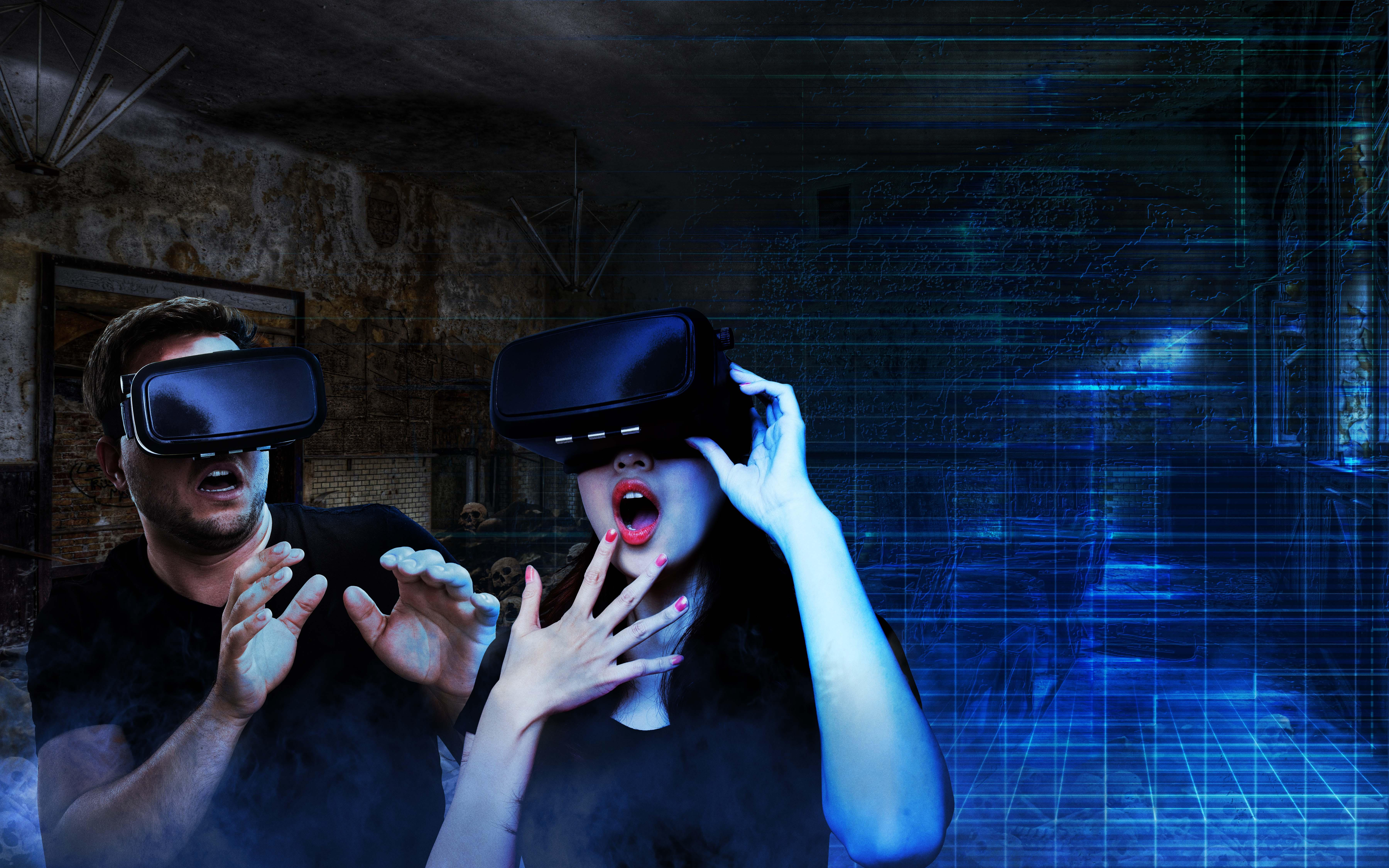 Add some high-tech chills to your haunted house thrills this weekend. (Courtesy Scream VR)