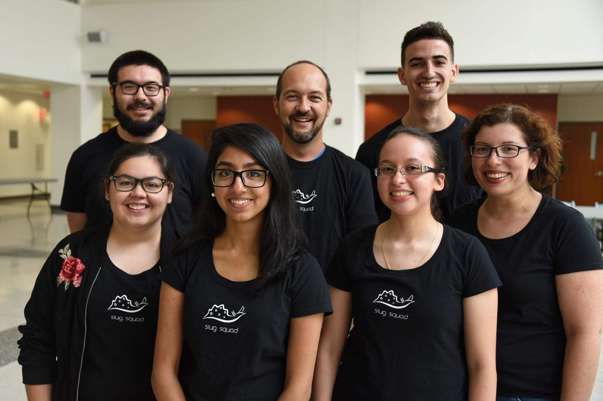 "The ""Slug Squad"" of researchers at Dominican University's Behavioral Neuroscience lab. (Courtesy Dominican University)"