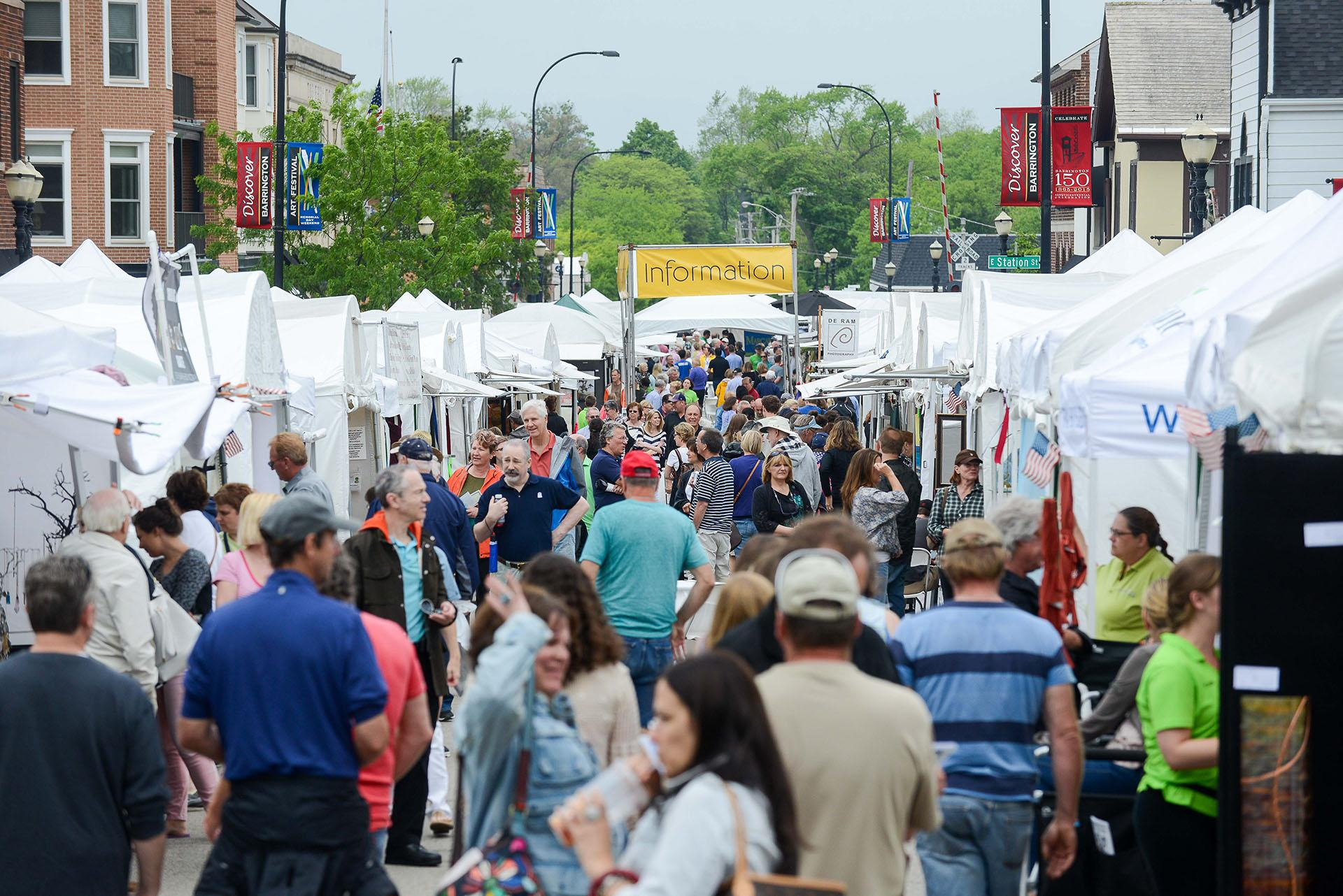 The Barrington Art Festival, originally scheduled for Memorial Day weekend, has been rescheduled because of the COVID-19 pandemic. The festivals is now slated for Sept. 12-13. (Courtesy of Amdur Productions)