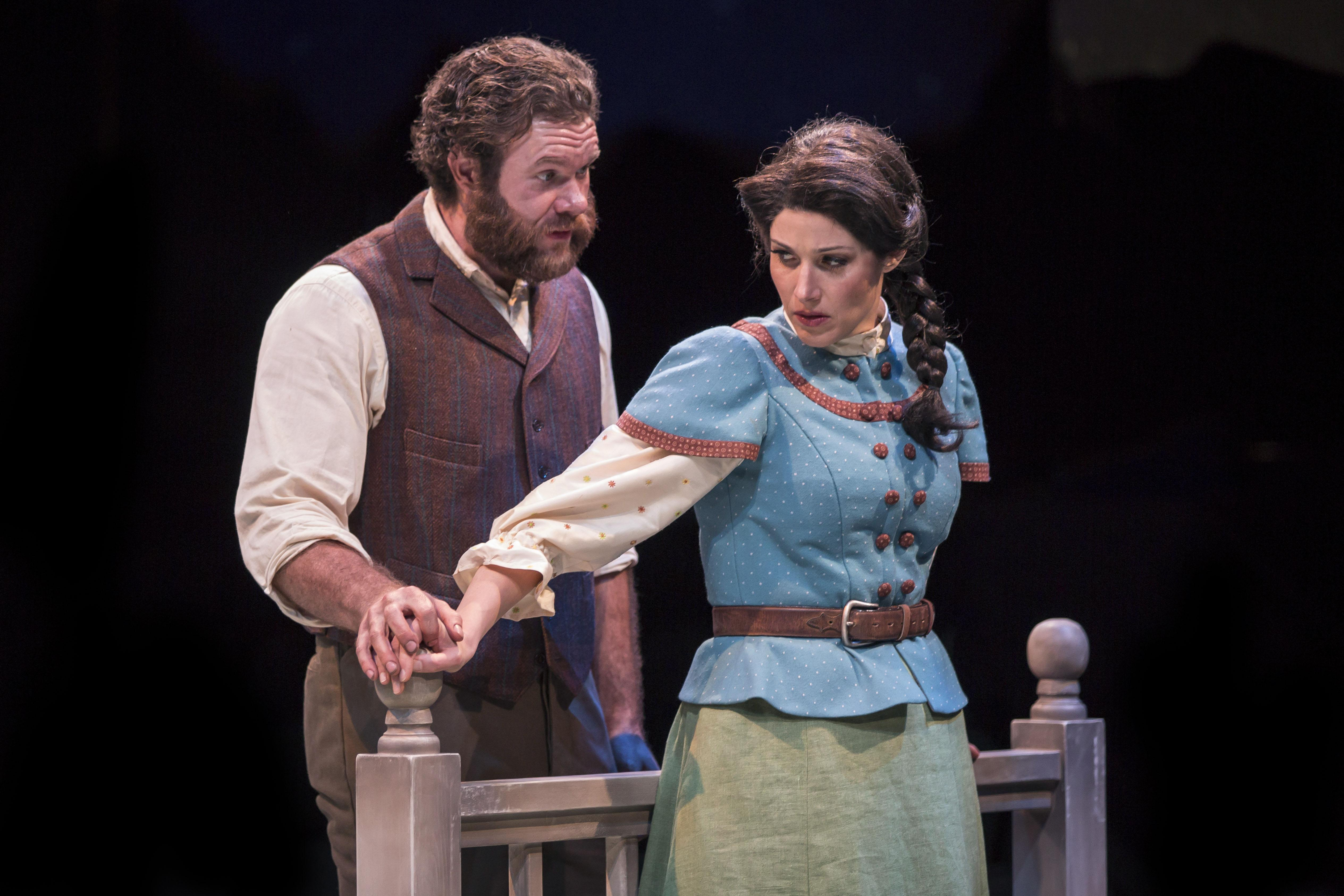 "Shea Coffman and Jennie Sophia in ""Oklahoma!"" (Photo by Liz Lauren)"