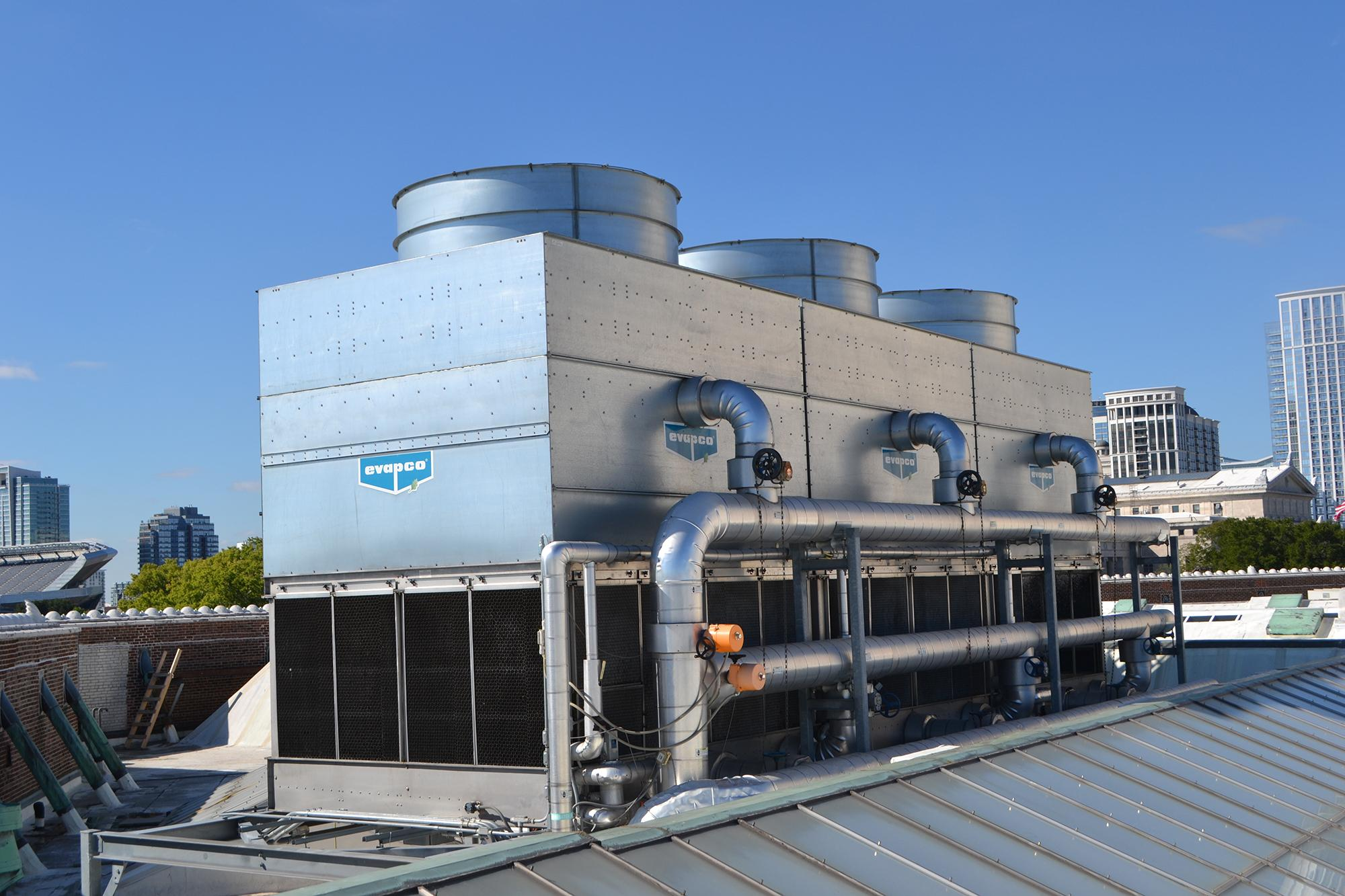 A new cooling tower has helped Shedd Aquarium cut water use by 50 percent over the past five years.