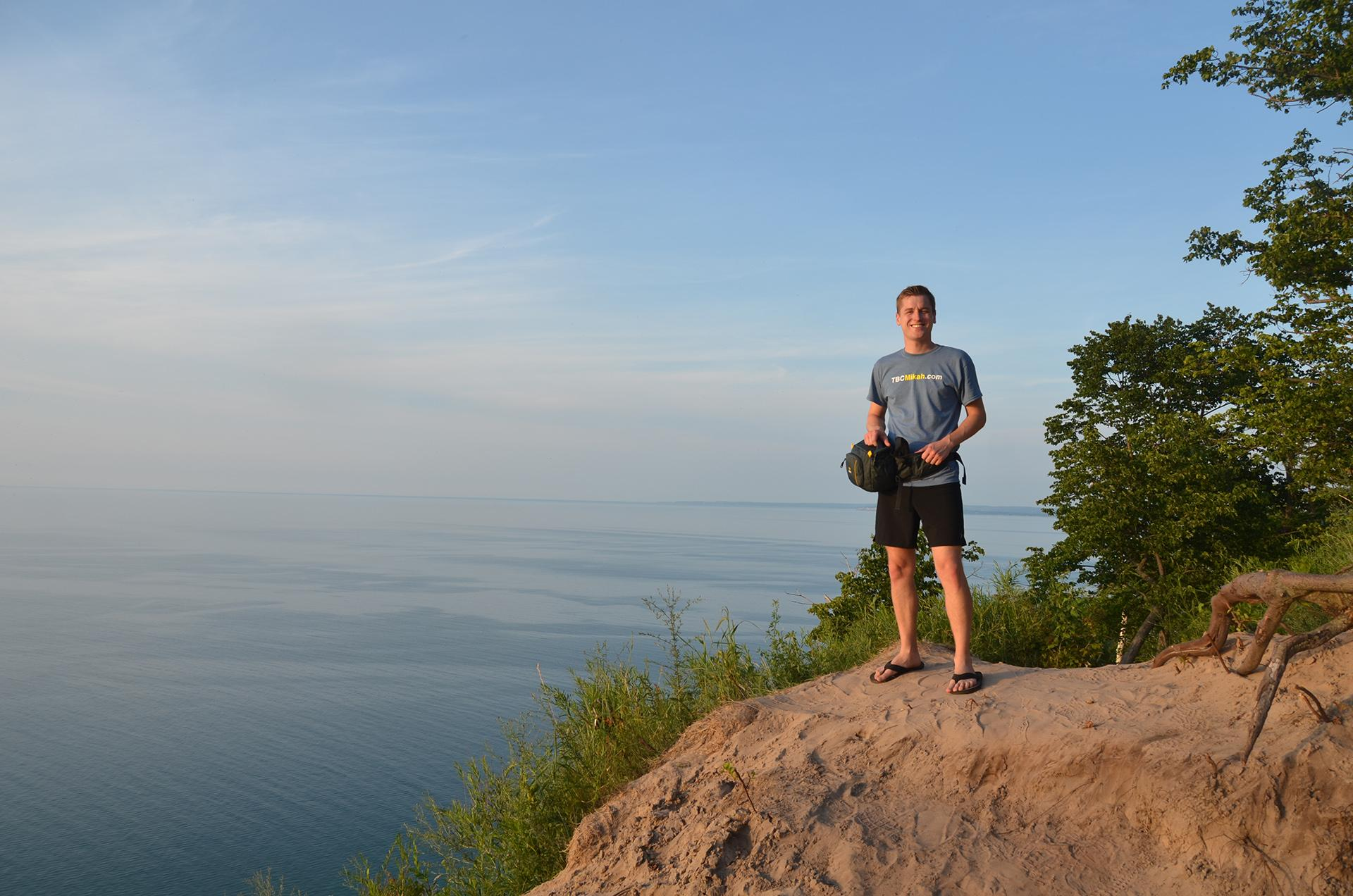 Mikah Meyer visits Sleeping Bear Dunes National Lakeshore in Empire, Michigan. (Courtesy of Mikah Meyer)