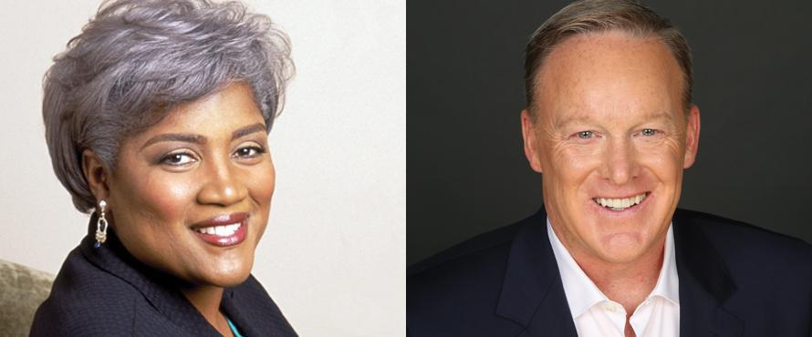 Donna Brazile and Sean Spicer (Courtesy Northeastern Illinois University)