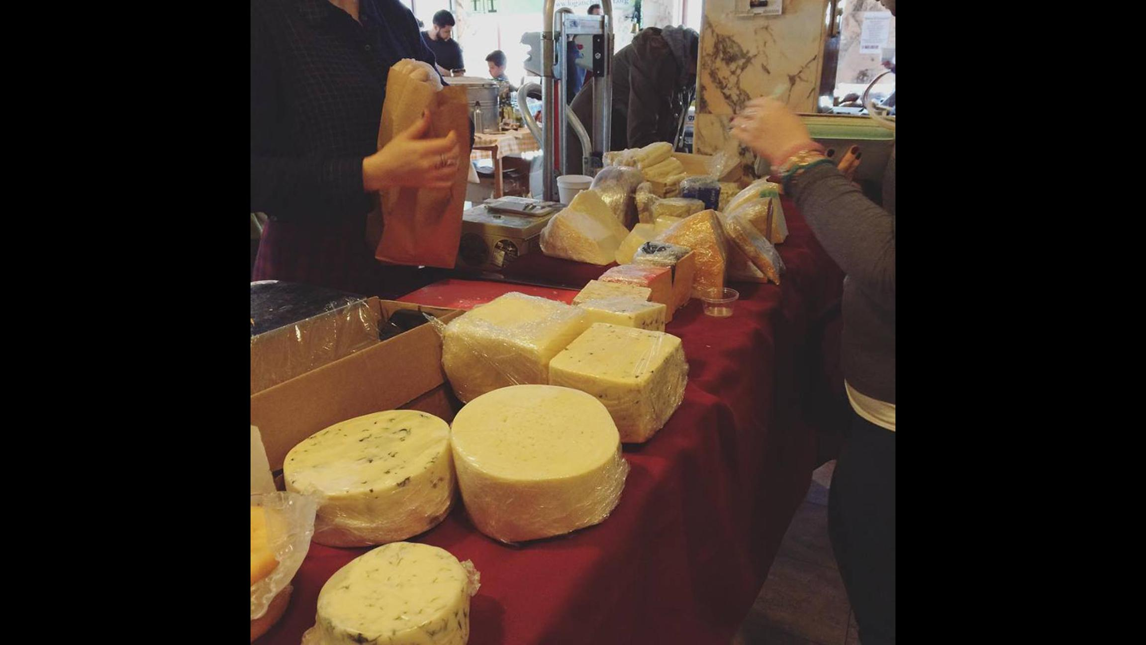 Say cheese! Stock up on Stamper Cheese options and other delights at the Holiday Pop-Up Farmers Market. (Logan Square Farmers Market / Facebook)