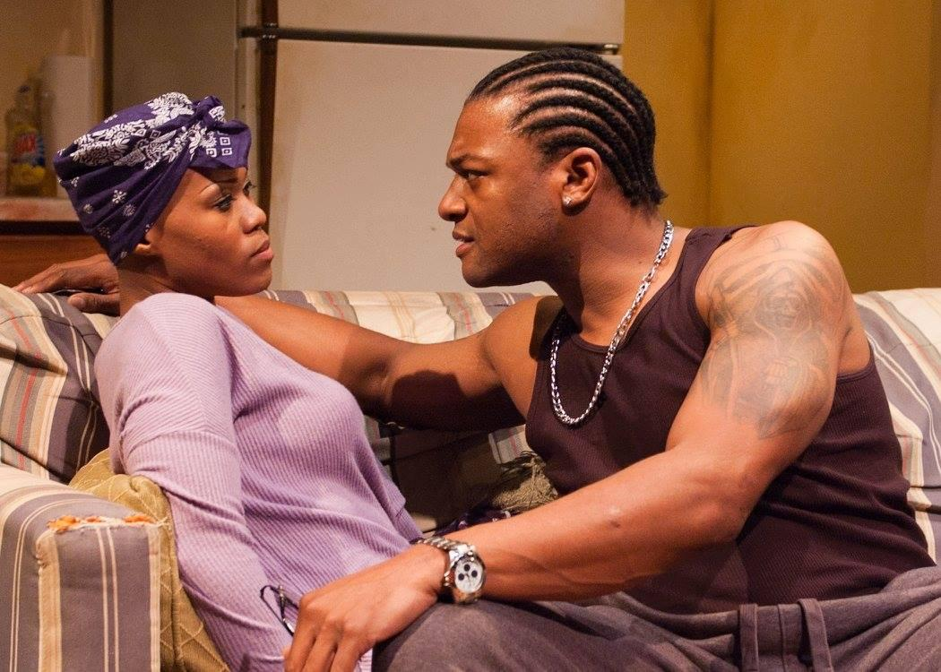 AnJi White and Kelvin Roston, Jr. perform in 'Sunset Baby.' (Courtesy of TimeLine Theater)