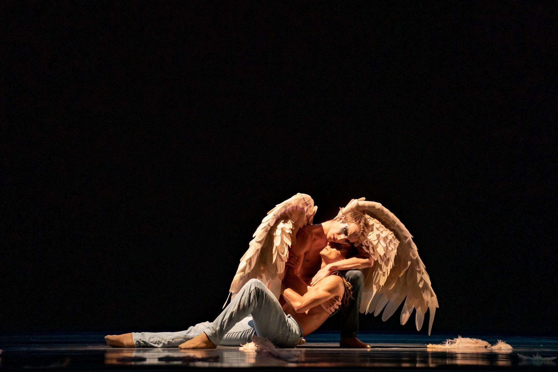 "Fernando Duarte and Stefan Goncalvez perform in ""Swing Low."" (Photo by Cheryl Mann)"