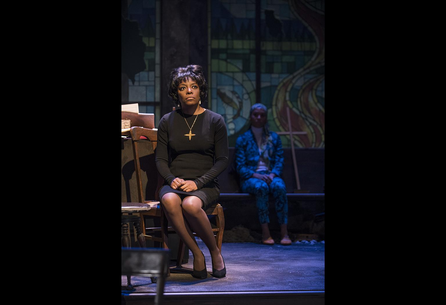 "Sydney Charles in Christina Ham's play ""Nina Simone: Four Women"" at Northlight Theatre. (Photo credit: Michael Brosilow)"