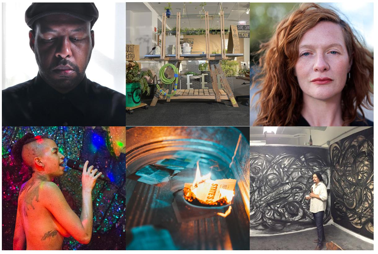 These are a few of the artists whose work is on display at THAWALLS. (Courtesy of Three-Walls)