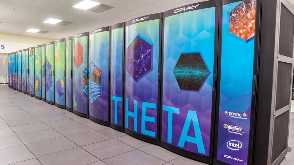 Argonne's Theta supercomputer (Courtesy of Argonne National Laboratory)