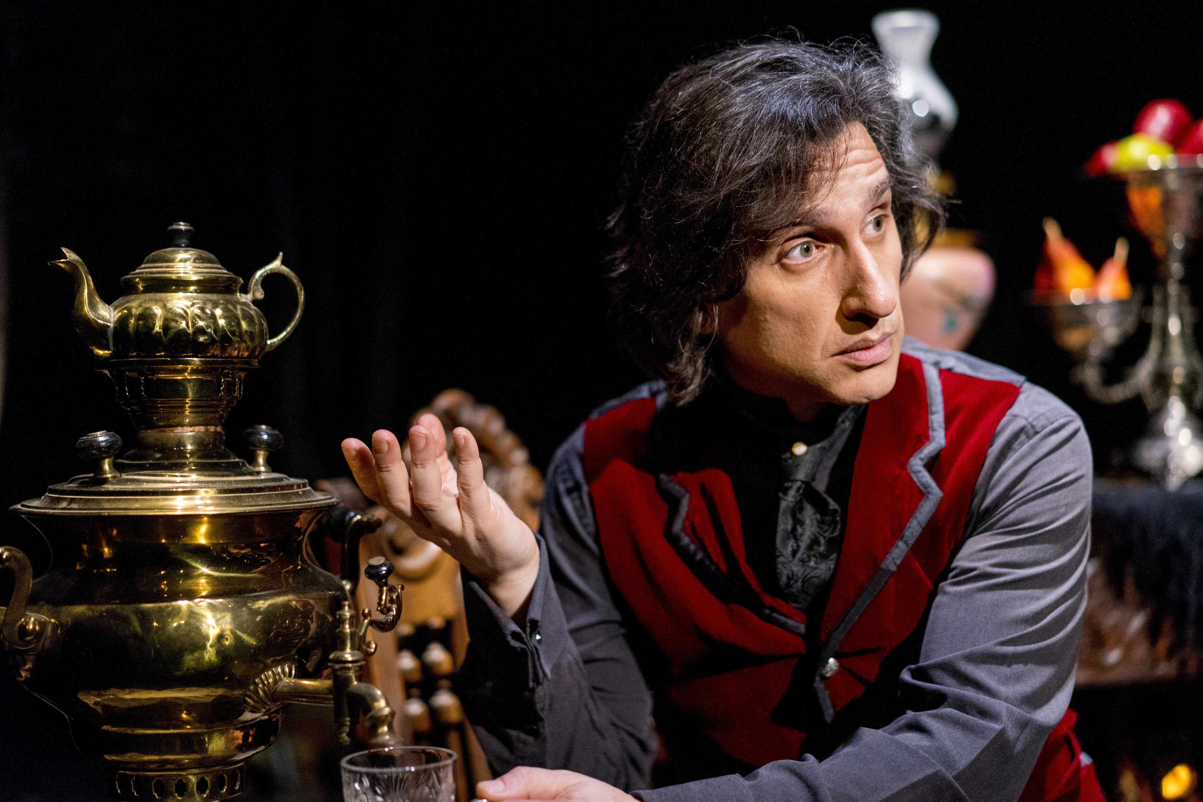 "Hershey Felder in ""Our Great Tchaikovsky"" at Steppenwolf Upstairs Theatre."