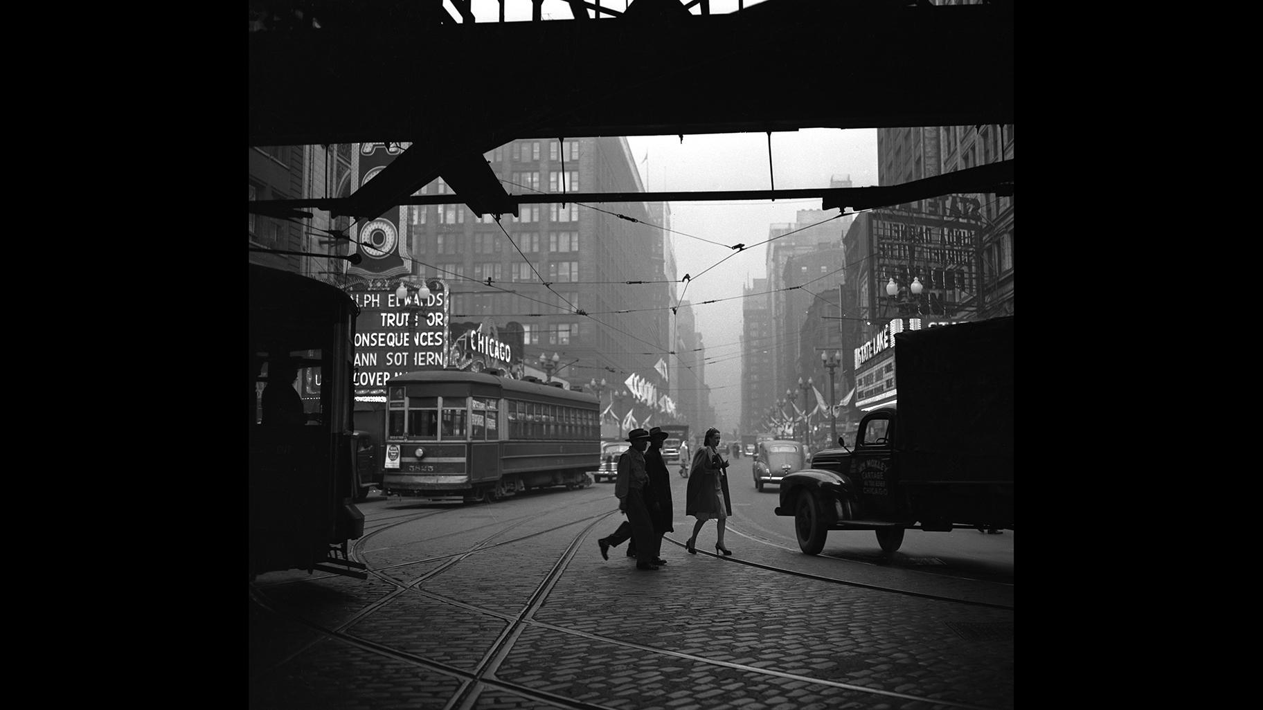 "The Loop ""during a dull day,"" 1947. (Courtesy the Chicago History Museum)"