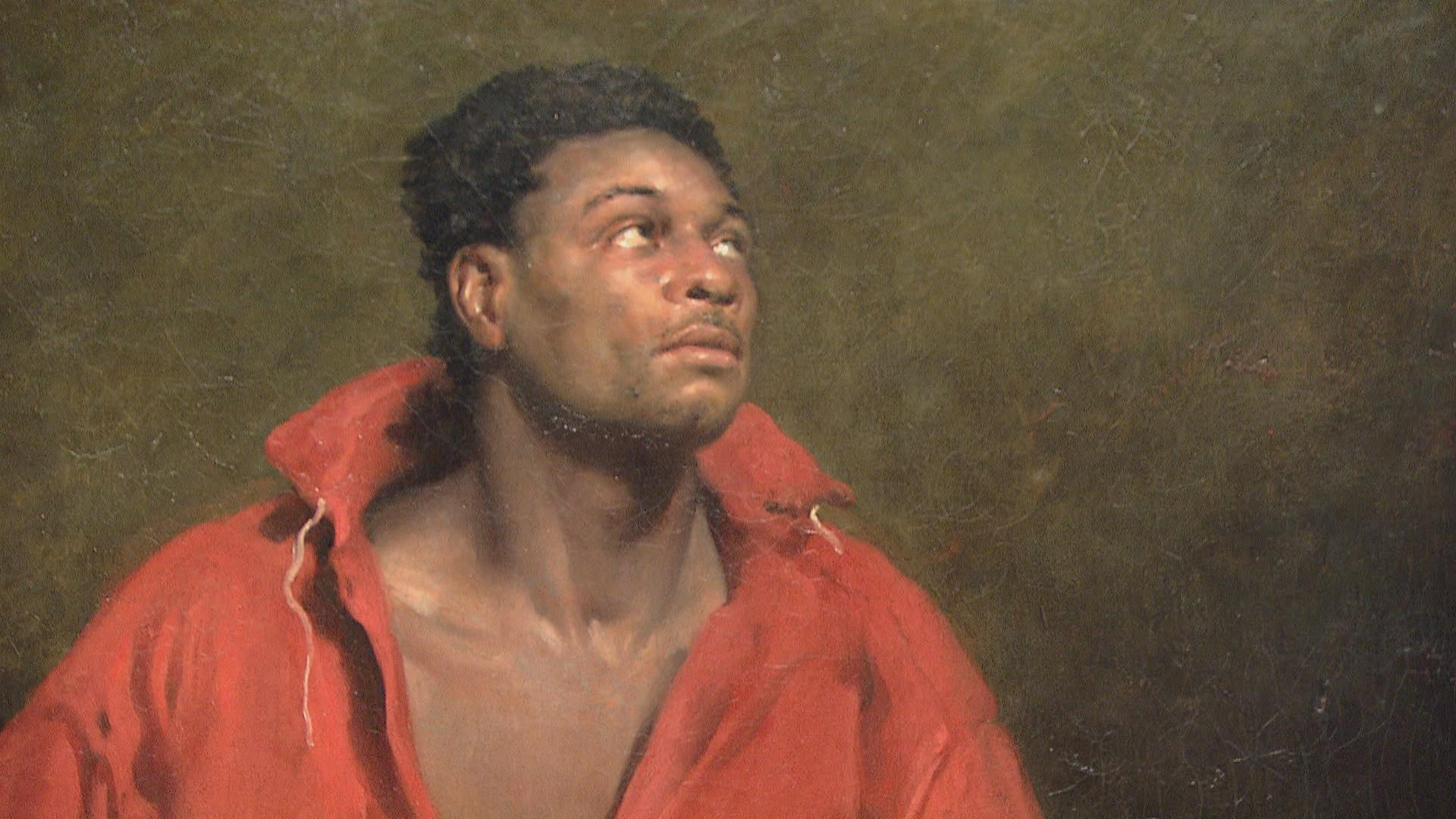 "Close-up, ""The Captive Slave."""