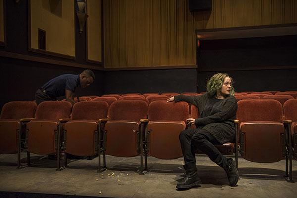 "Photos for Steppenwolf's production of ""The Flick,"" written by Annie Baker and directed by Dexter Bullard. (Travis Turner and Caroline Neff)"