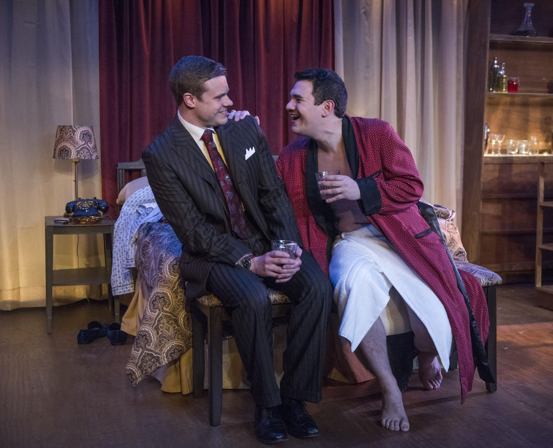 "Curtis Edward Jackson, left, and Rudy Galvan in ""The Gentleman Caller."" (Photo by Michael Brosilow)"