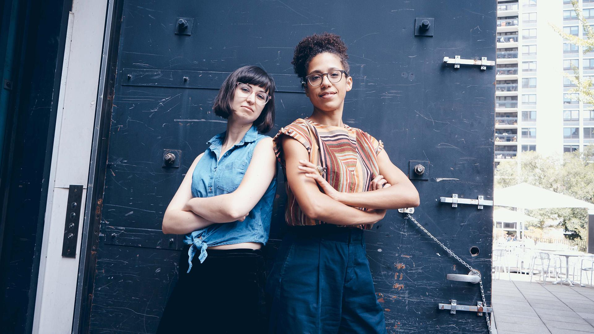 The Storefront Project is curated by Prop Thtr Artistic Director Olivia Lilley, left, and MCA Associate Curator of Performance Tara Aisha Willis. (Photo by Matthew Gregory Hollis)