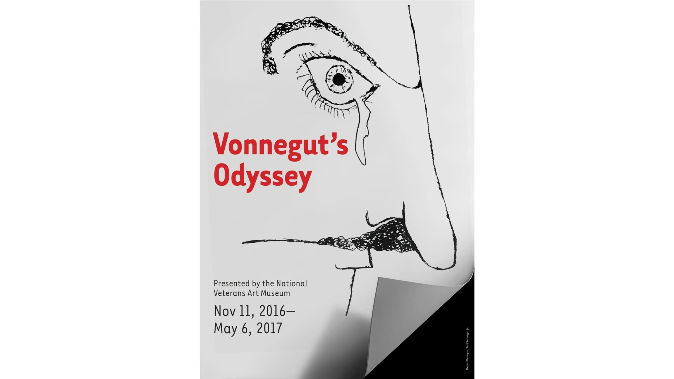 Kurt Vonnegut's drawings are on display starting Friday at the National Veterans Art Museum.