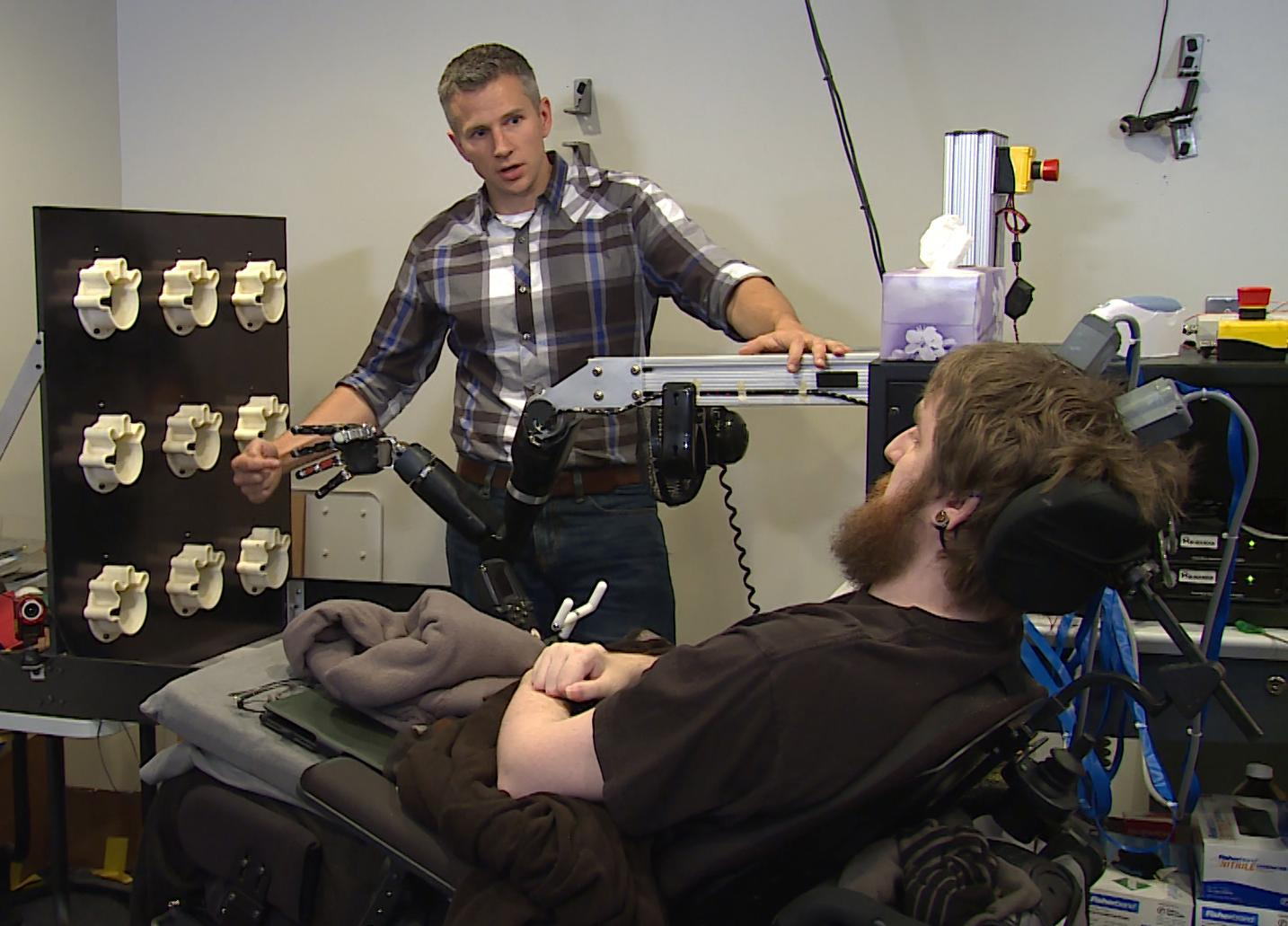 Paralyzed Man Regains Sense of Touch with Robotic Arm | Chicago News