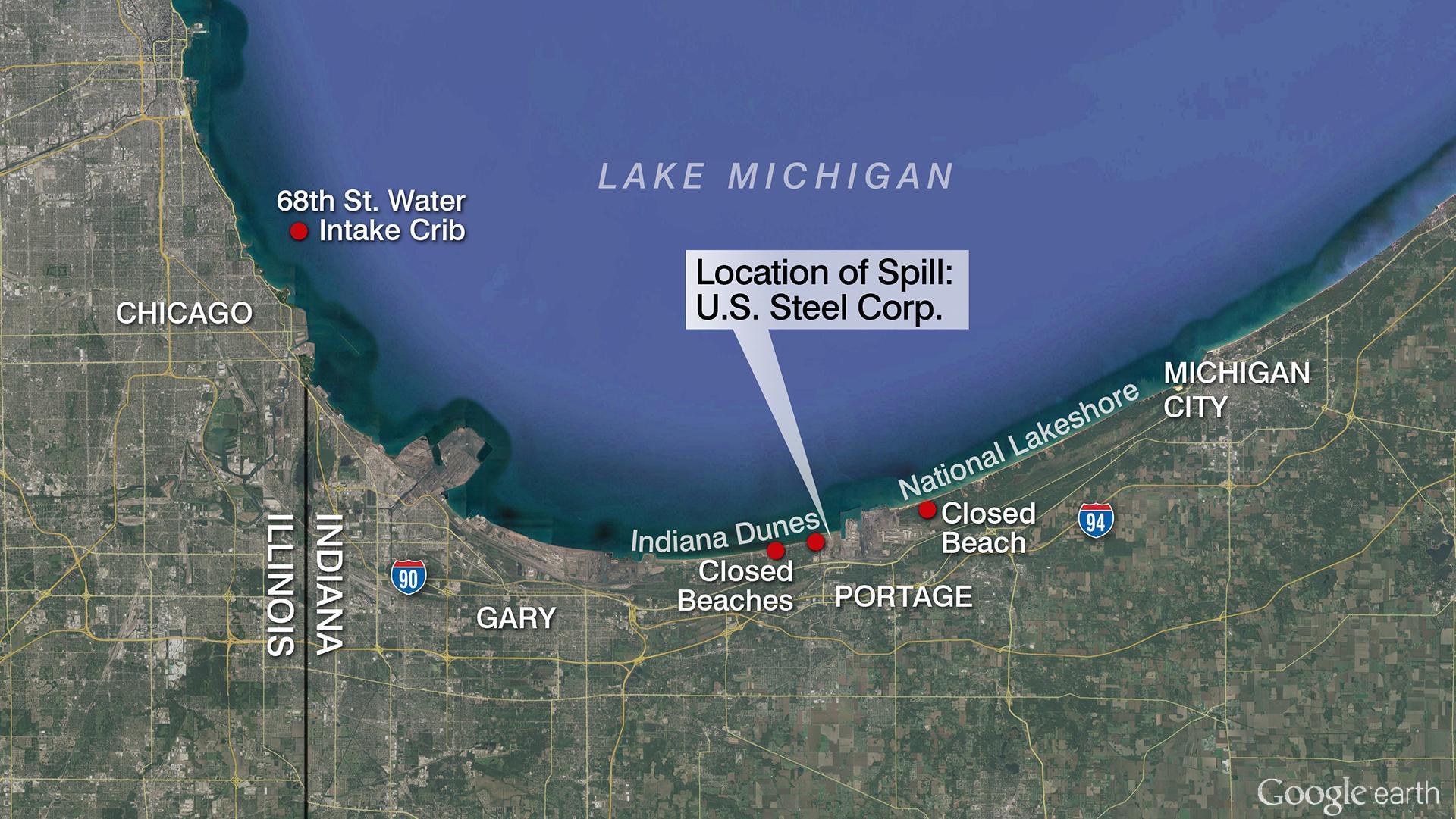 Chicago Sues U S  Steel Over Lake Michigan Pollution