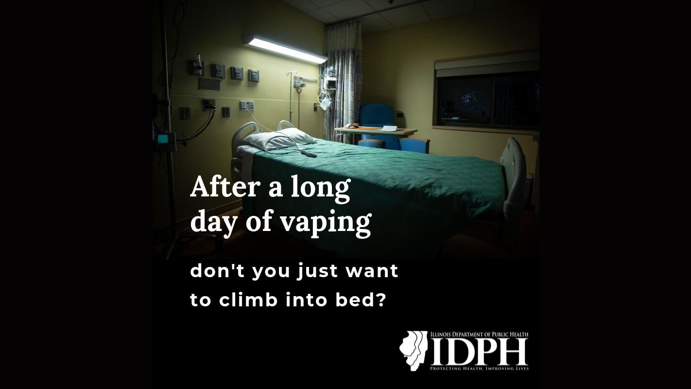 Illinois Department of Public Health officials are warning residents of the dangers of vaping in a new social media campaign. (Courtesy of the Illinois Department of Public Health)