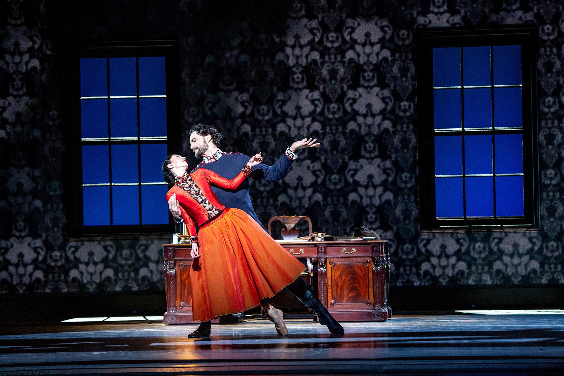 "Victoria Jaiani and Fabrice Calmels in ""Anna Karenina."" (Photo by Cheryl Mann)"