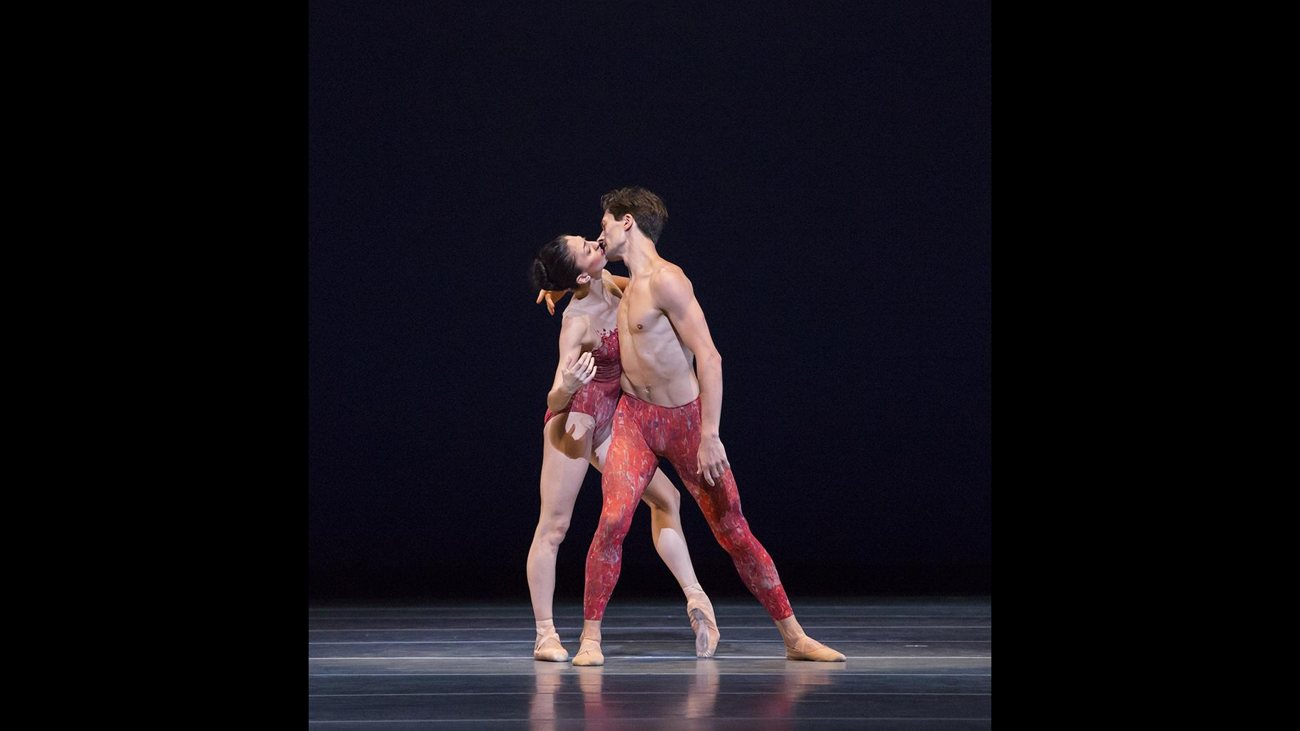 "Joffrey Ballet dancers Victoria Jaiani and Temur Suluashvili in Yuri Possokhov's 2011 ""Bells."" (Photo by Cheryl Mann)"