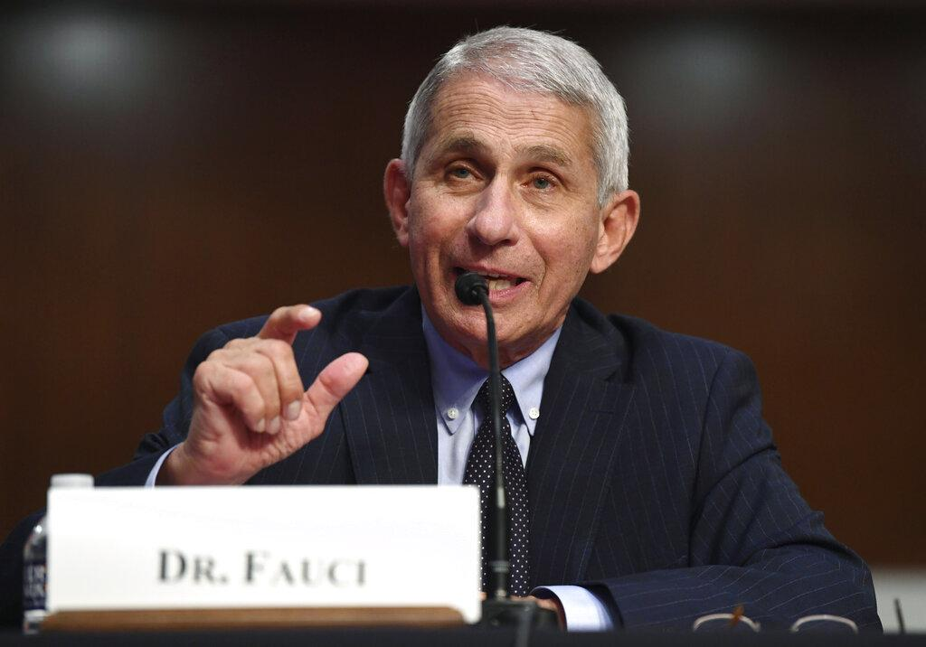 Dr. Anthony Fauci, director of the National Institute for Allergy and Infectious Diseases, testifies before a Senate Health, Education, Labor and Pensions Committee hearing on Capitol Hill in Washington, Tuesday, June 30, 2020. (Kevin Dietsch / Pool via AP)