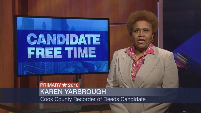 Karen Yarbrough participated in WTTW's Candidate Free Time ahead of the March primary.