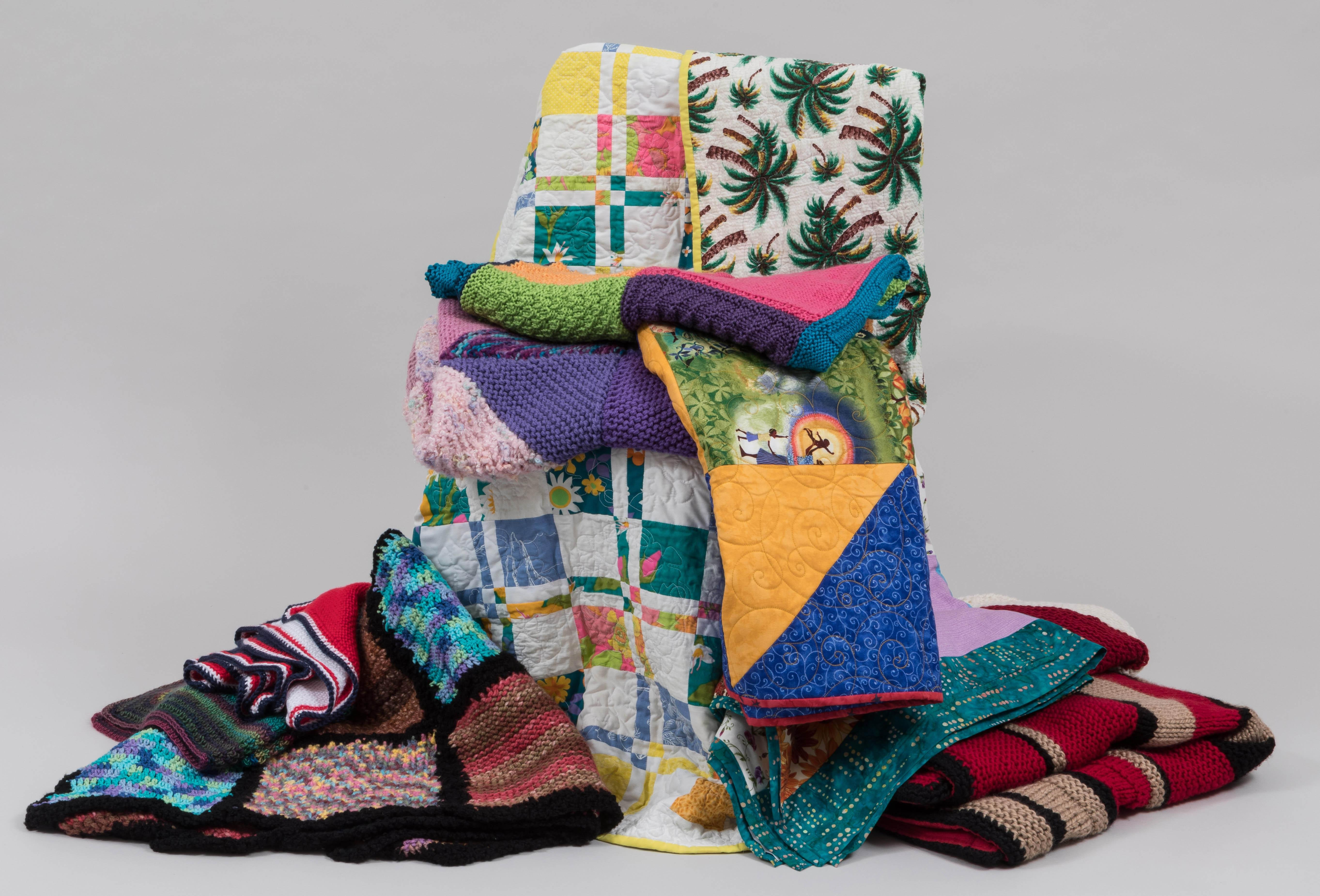 The Welcome Blanket project hopes to collect more than 3,000 handmade blankets by Nov. 4 to put on display at the Smart Museum of Art before they are given as gifts to new immigrants.  (Courtesy of the Smart Museum of Art at the University of Chicago)