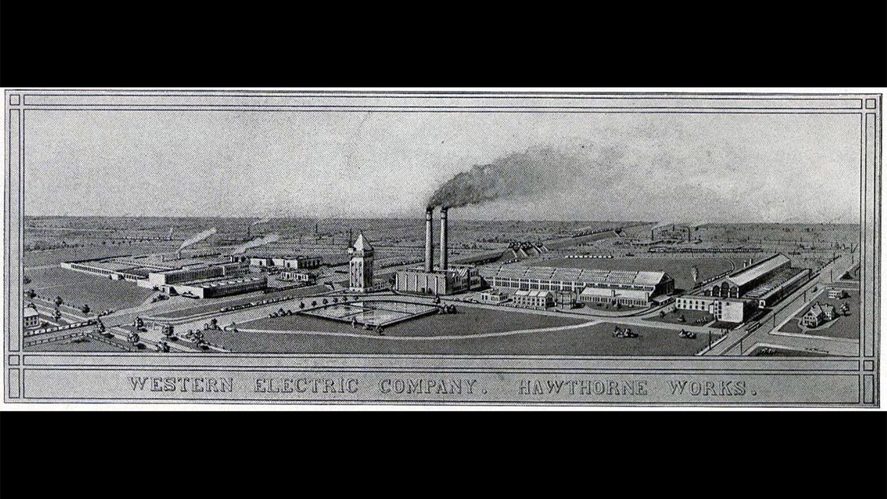 Cicerovým velkým lákadlem byla Hawthorne Works Western Electric, která zaměstnávala mnoho českých přistěhovalců a rodin vyrábějících americké telefony.  (Se svolením Harvardské knihovny)
