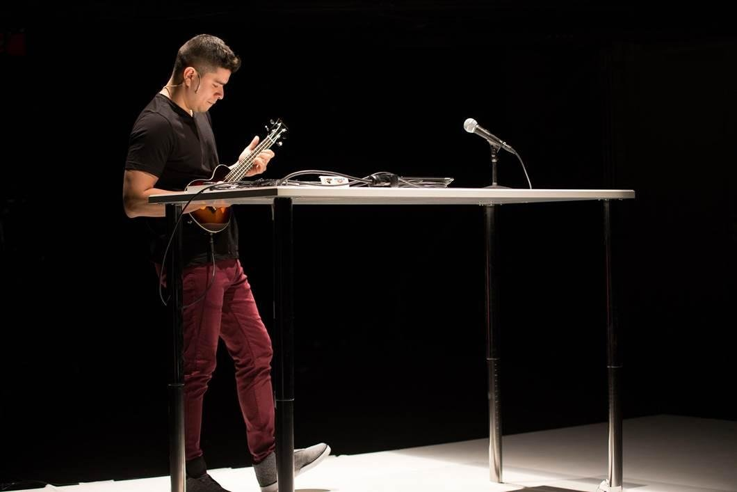 "Brian Quijada performs in the one-man show, ""Where Did We Sit on the Bus?""(Joel Maisonet)"