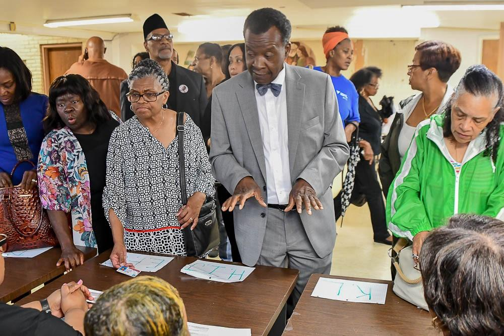 Chicago mayoral candidate Willie Wilson at an event Sunday, July 22, 2018 at the New Covenant Baptist Church. (Courtesy of Wilson Campaign)