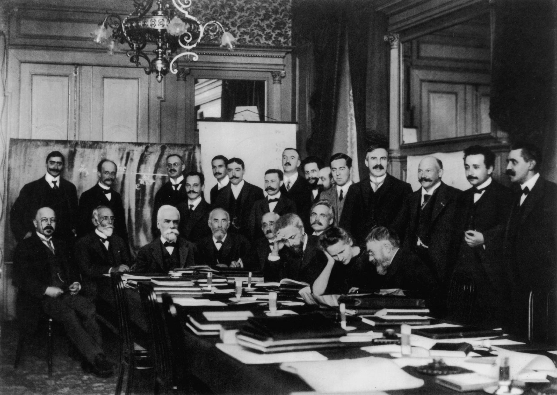 Marie Curie was the only female scientist at a 1911 conference of the world's top physicists. (Benjamin Couprie / Wikimedia Commons)