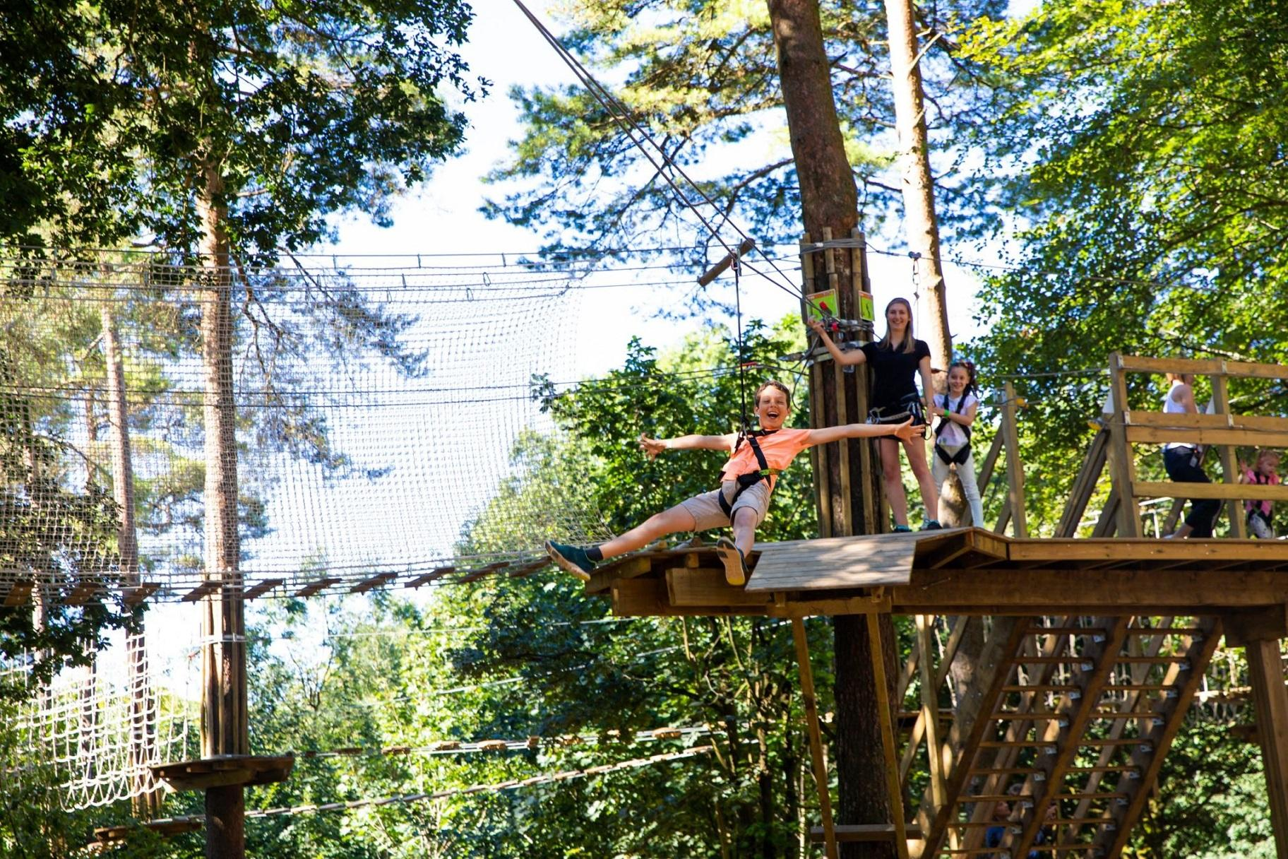 Outdoor adventure company Go Ape opened a zipline course at Bemis Woods in Western Springs in 2016. (Courtesy Go Ape)