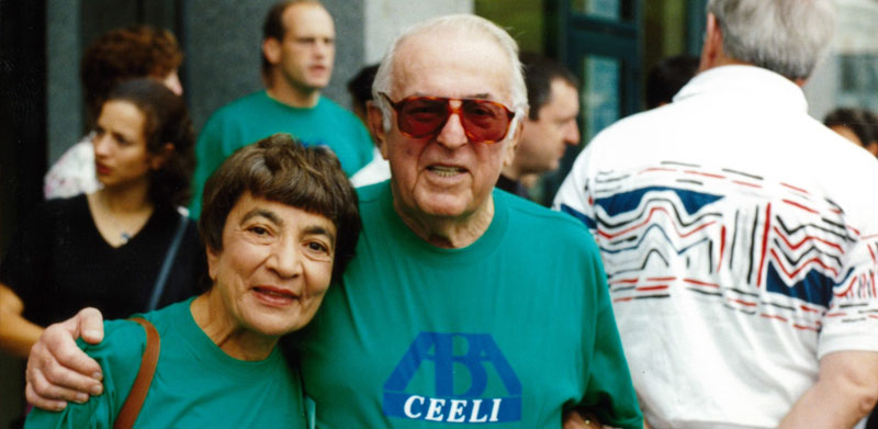 "Zorita ""Zoe"" and Abner Mikva. (Courtesy of Mikva Challenge)"